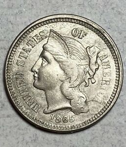 1865 3CN THREE CENT NICKEL