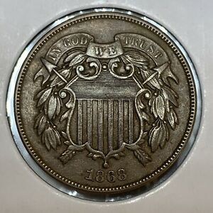 1868 TWO CENT PIECE UNCIRCULATED BEAUTY
