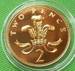 1989 UK BRILLIANT UNCIRCULATED 2P COIN