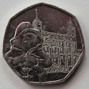 BRITISH 2019 PADDINGTON BEAR AT THE TOWER OF LONDON 50P COIN. FIFTY PENCE COIN A
