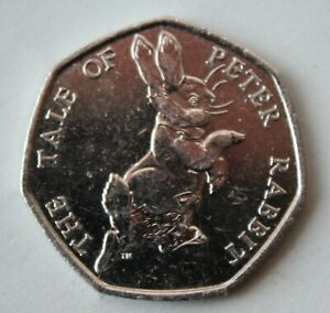 BRITISH 2017 THE TALE OF PETER RABBIT 50P COIN. FIFTY PENCE COIN.
