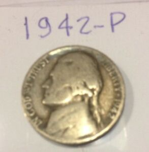 1942 P JEFFERSON NICKEL   35  SILVER        GOOD ALBUM FILLER
