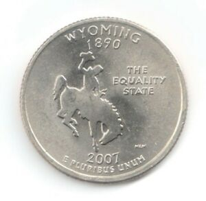 2007 D WYOMING STATEHOOD QUARTER DOLLAR   UNCIRCULATED   FREE POSTAGE