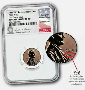 2019 W REVERSE PROOF LINCOLN CENT NGC RP 70 RD LYNDALL BASS SIGNED 1C PENNY