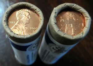 2009 D US MINT WRAPPED LINCOLN CENT PENNY 2 ROLLS FORMATIVE YEARS LP2