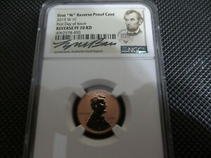 2019 W PROOF LINCOLN CENT LYNDALL BASS NGC PF70 REVERSE  FIRST DAY OF ISSUE