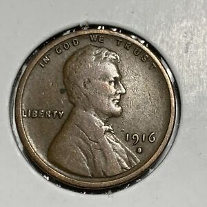 1916 S LINCOLN WHEAT PENNY VG