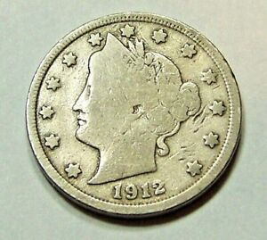 1912  LIBERTY HEAD V NICKEL                                             90919215