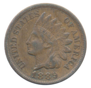 1889 INDIAN HEAD CENT CHOICE EXTRA FINE XF  CONDITION UNITED STATES COIN