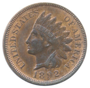 1892 INDIAN HEAD CENT CHOICE UNCIRCULATED BU  CONDITION UNITED STATES COIN