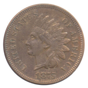 1875 INDIAN HEAD CENT CHOICE EXTRA FINE XF  CONDITION UNITED STATES COIN