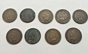 INDIAN HEAD PENNY LOT 9 COIN SET 1890 91 93 94 95 96 97 98 99