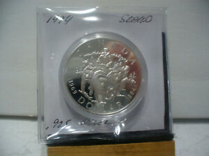 Click now to see the BUY IT NOW Price! 1994  CANADA  SILVER ONE  DOLLAR  COIN  1$  HIGH   GRADE   94      .925  SILVER