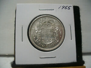 Click now to see the BUY IT NOW Price! 1955  CANADA  SILVER  HALF  DOLLAR  50 CENT PIECE   55  GOOD  GRADE  SEMI KEY