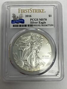 2016 PCGS MS70 FIRST SRIKE 30TH ANNIVERSARY SILVER EAGLE UNCIRCULATED