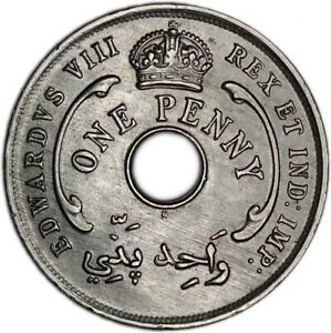 BRITISH WEST AFRICA COIN 1 PENNY 1936 AUNC