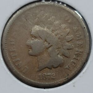 1872 INDIAN HEAD CENT COPPER PENNY