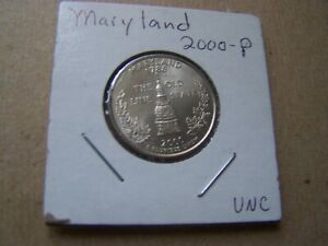 2000 P  UNCIRCULATED MARYLAND STATE QUARTER