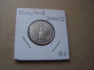 2000 D UNCIRCULATED MARYLAND STATE QUARTER