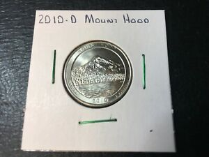 2010 D MOUNT HOOD NATIONAL PARK QUARTER   ALMOST UNCIRCULATED IN 2X2 HOLDER
