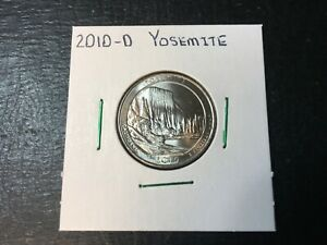 2010 D YOSEMITE NATIONAL PARK QUARTER   ALMOST UNCIRCULATED IN 2X2 HOLDER
