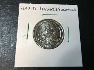 2012 D HAWAII VOLCANOES NATIONAL PARK QUARTER ALMOST UNCIRCULATED IN 2X2 HOLDER