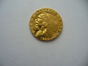 1928  $2 5 QUARTER EAGLE INDIAN HEAD  US GOLD COIN