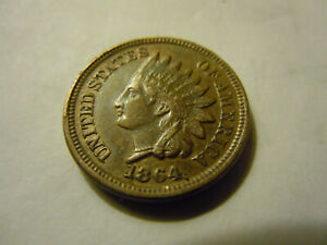 1864  INDIAN CENT  HIGH GRADE XF/AU  C/N