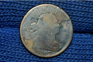 1807 HALF CENT    REVERSE CUD OR POSSIBLY STRUCK ON CUT DOWN LARGE CENT