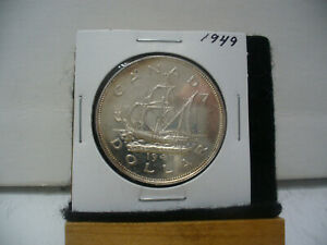 Click now to see the BUY IT NOW Price! 1949  CANADA  SILVER DOLLAR  COIN   NICE GRADE  SEE PHOTOS  49  NICE GRADE