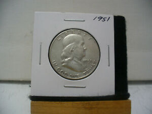 Click now to see the BUY IT NOW Price! 1951    BEN FRANKLIN   HALF  DOLLAR      50 CENT PIECE   COIN   51  GOOD GRADE