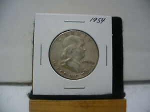 Click now to see the BUY IT NOW Price! 1954    BEN FRANKLIN   HALF  DOLLAR      50 CENT PIECE   COIN   54  GOOD GRADE
