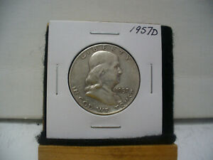 Click now to see the BUY IT NOW Price! 1957 D   BEN  FRANKLIN  HALF   DOLLAR  50   CENT  PIECE    57D   GOOD   GRADE