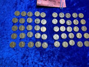 1953 S LINCOLN WHEAT ONE 1 CENT PENNY ROLL X50 COINS