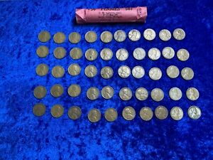 1942 S LINCOLN WHEAT ONE 1 CENT PENNY ROLL X50 MIXED LOT