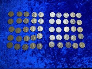 1950 S X50 ROLL LINCOLN WHEAT PENNY ONE 1 CENT MIXED LOT COIN COLLECTION