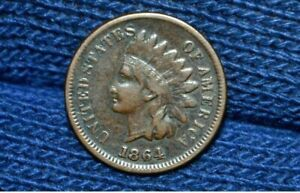 1864 L INDIAN HEAD CENT    VF      FULL LIBERTY    REVERSE ROTATED 180 DEGREES