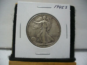 Click now to see the BUY IT NOW Price! 1945 S   WALKER  LIBERTY WALKING  HALF  DOLLAR      50 CENT PIECE   COIN  45S