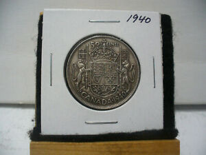 Click now to see the BUY IT NOW Price! 1940  CANADA  SILVER  HALF  DOLLAR  50 CENT PIECE   40    GOOD GRADE