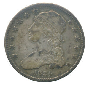 1834 CAPPED BUST SILVER QUARTER CH. FINE VF  CONDITION EARLY AMERICAN COIN