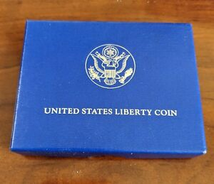 1986 D STATUE OF LIBERTY COMMEMORATIVE HALF DOLLAR UNCIRCULATED W/ BOX & COA