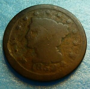1852 LARGE CENT   52LC CULL