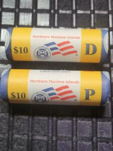 2009 P&D NORTHERN MARIANA ISLANDS QUARTER   US MINT WRAPPED ROLL SET