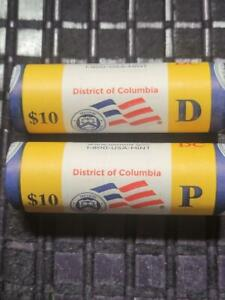 2009 P&D DISTRICT OF COLUMBIA QUARTER   US MINT WRAPPED ROLL SET