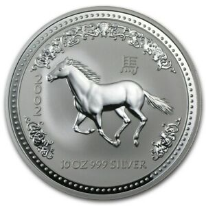 Click now to see the BUY IT NOW Price! 10 OZ 2002 PERTH LUNAR ONE HORSE SILVER COIN