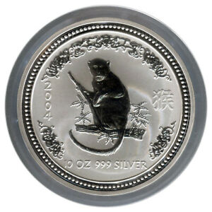 Click now to see the BUY IT NOW Price! 10 OZ 2004 PERTH LUNAR ONE MONKEY SILVER COIN