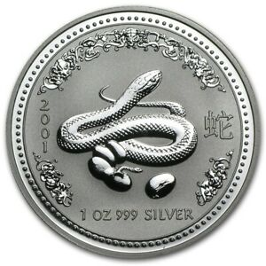 Click now to see the BUY IT NOW Price! 1 OZ 2001 PERTH LUNAR SNAKE SILVER COIN