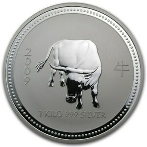 Click now to see the BUY IT NOW Price! 1 KILO KG 2009 PERTH LUNAR OX SILVER COIN