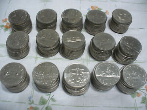 Click now to see the BUY IT NOW Price! LOT OF 150  CANADA  NICKEL  1 $  ONE  DOLLAR  COINS   SEE PHOTOS   LOT B