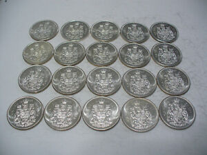 Click now to see the BUY IT NOW Price! LOT OF 20 1964  CANADA HALF DOLLAR  SILVER COINS  50 CENT PIECES    LOT A